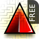 "A Maze Ing Labyrinth - My Red Jewel "" Classic Maze Game "" IQ Test Mania - The Lite Edition mobile app icon"